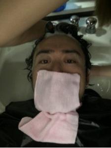 つくばの美容室La fonteのスタッフのシャンプー練習