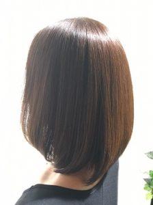 つくばの美容院ラフォンテの髪質改善カラーエステの女性モデルのヘア