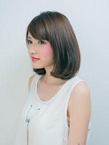 つくばの美容院ラフォンテの女性jヘアスタイルモデル