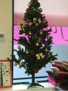 つくばの美容室La fonteのクリスマスツリー