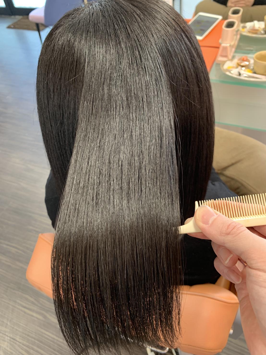 女性 艶髪 アフター